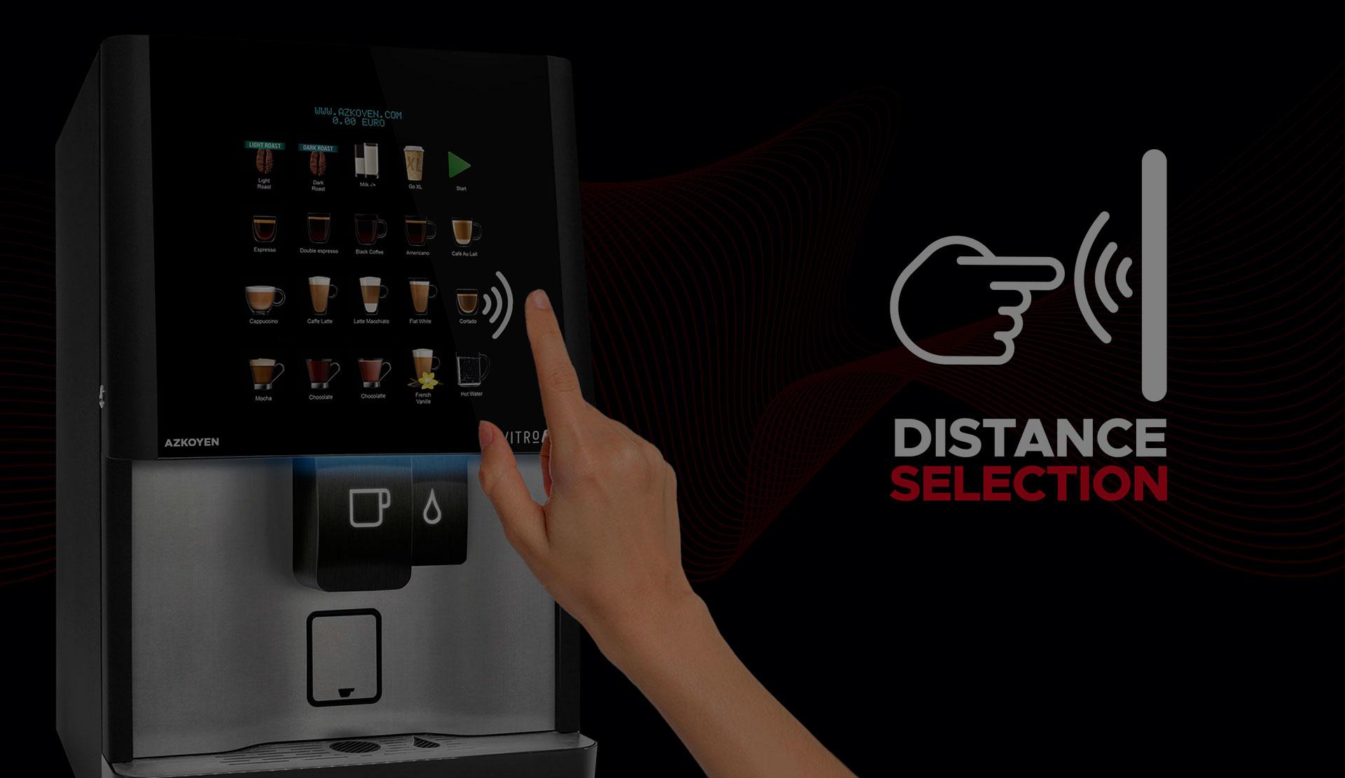 Azkoyen patenta la tecnología Distance Selection que permite la selección de productos en máquinas automáticas sin necesidad de tocar superficies